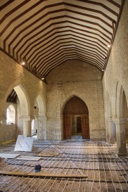 St John the Baptist, Stadhampton - underfloor heating being laid (©Mike Peckett)